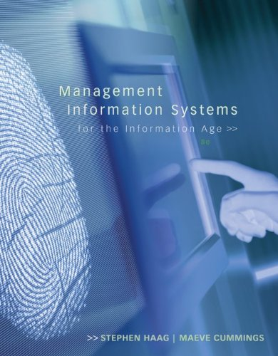 Management Information Systems for the Information Age 9780073376783