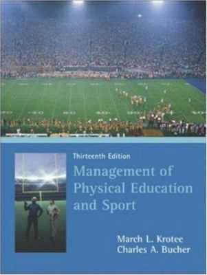 Management of Physical Education and Sport 9780072972924