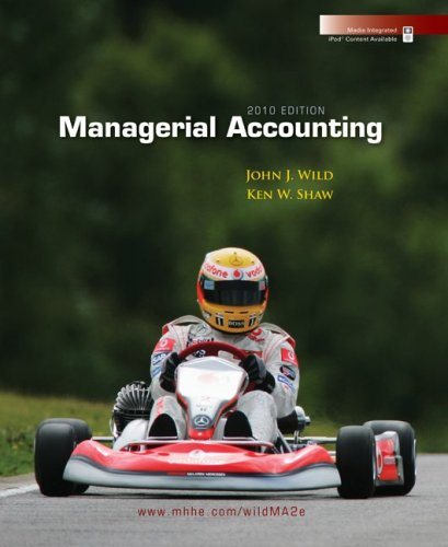 Managerial Accounting 2010 Edition 9780073379586