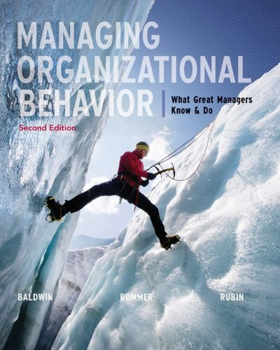 Managing Organizational Behavior: What Great Managers Know & Do 9780077579821