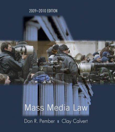 Mass Media Law 9780073378824
