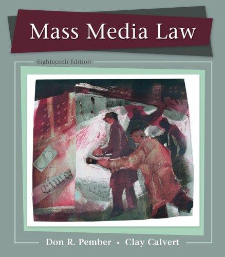 Mass Media Law 9780073526188