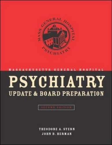 Massachusetts General Hospital Psychiatry Update & Board Preparation 9780071410007
