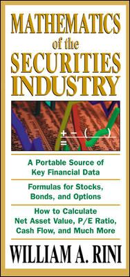 Mathematics of the Securities Industry 9780071413169