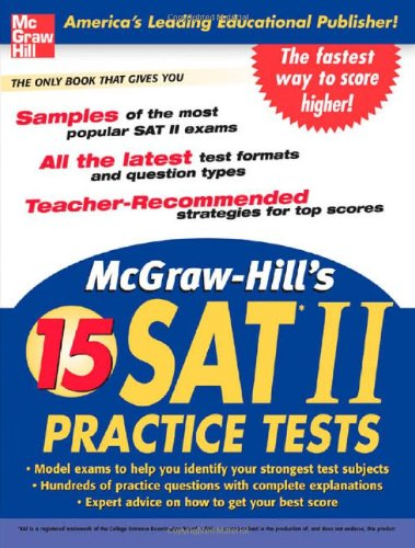 McGraw-Hill's 15 Practice SAT Subject Tests 9780071468961