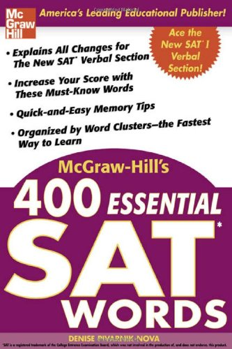McGraw-Hill's 400 Essential SAT Words 9780071434942