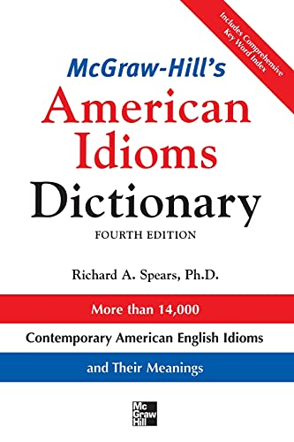 McGraw-Hill's Dictionary of American Idioms Dictionary 9780071478939