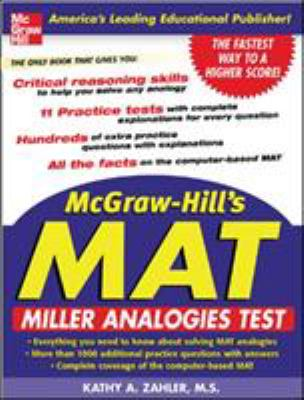 McGraw-Hill's MAT: Miller Analogies Test 9780071452236
