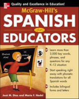 McGraw-Hill's Spanish for Educators (Book Only) 9780071464901