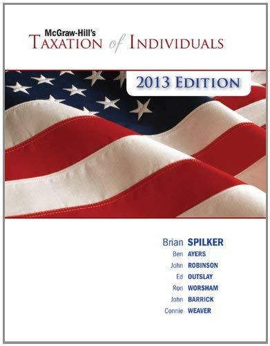 McGraw-Hill's Taxation of Individuals, 2013 Edition 9780077434113