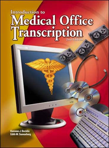 Medical Office Transcription: An Introduction to Medical Transcription Text-Workbook 9780078262609