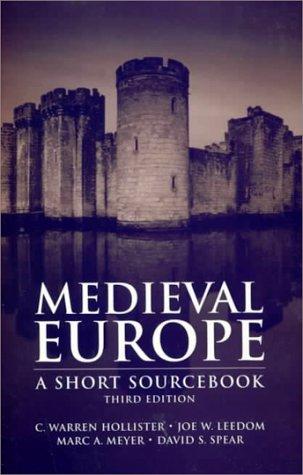 Medieval Europe: A Short Sourcebook 9780070297241