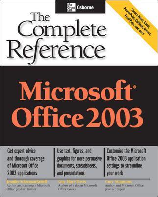 Microsoft Office 2003 9780072229950
