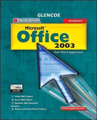 Microsoft Office 2003, Advanced: Real World Applications 9780078687105