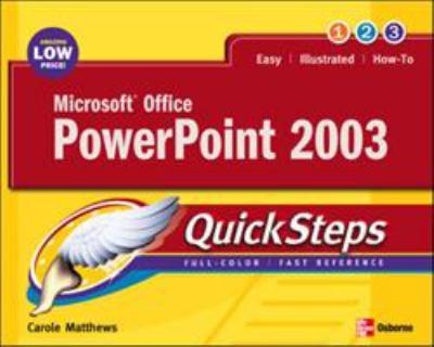 Microsoft Office PowerPoint 2003 Quicksteps 9780072232301
