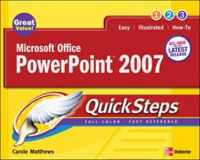 Microsoft Office PowerPoint 2007 Quicksteps 9780072263701