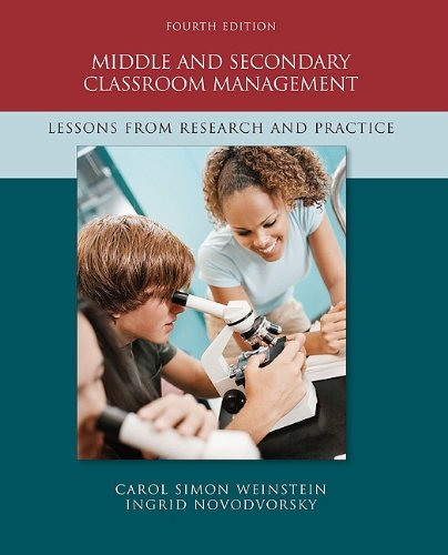 Middle and Secondary Classroom Management: Lessons from Research and Practice 9780073378619
