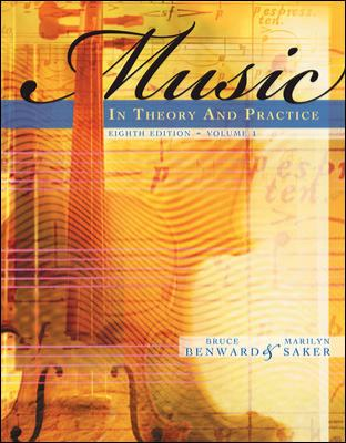 Music in Theory and Practice, Volume 1 with Audio CD 9780077254940