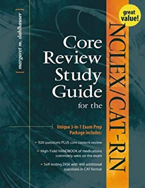 NCLEX/Cat-RN Core Review Study Guide [With Core Review Handbook of Medications for the Ncl... and Disk] 9780071353397