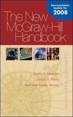 New McGraw-Hill Handbook (Hardcover) MLA / APA / CSE Update 9780073383682
