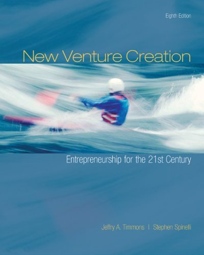 entrepreneurship new venture creation 'new venture creation and organizations that have taken a global or a socially responsible approach to entrepreneurship the new venture action plan serves.