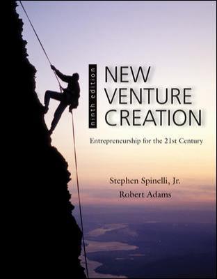 New Venture Creation: Entrepreneurship for the 21st Century 9780078029103