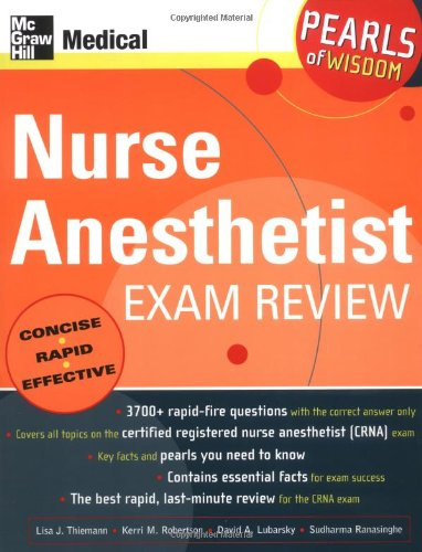 Nurse Anesthetist Exam Review: Pearls of Wisdom 9780071464369