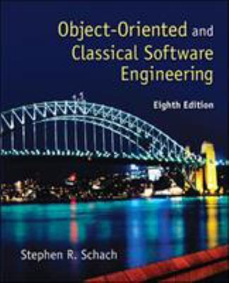Object-Oriented and Classical Software Engineering 9780073376189