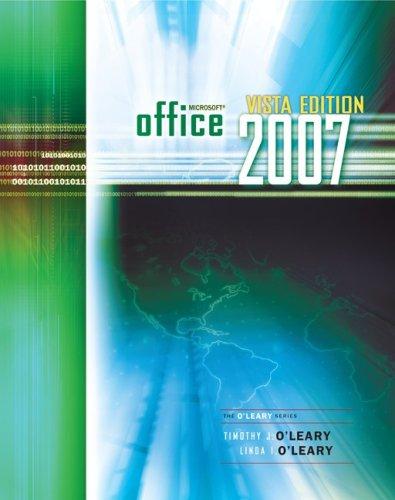 Office 2007 Windows Vista Version 9780073519272