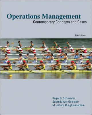 Operations Management: Contemporary Concepts and Cases 9780073403380