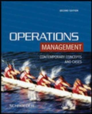 Operations Management: Conctemporary Concepts and Cases [With CDROM] 9780072872699