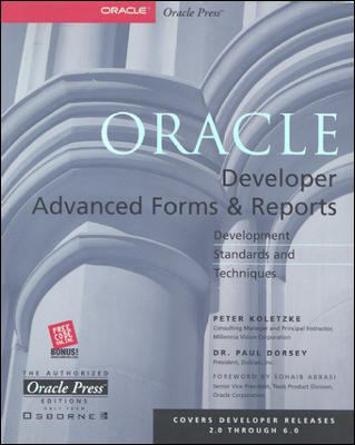 Oracle Developer Advanced Forms and Reports 9780072120486