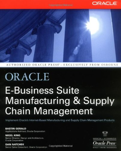 Oracle Manufacturing and Supply Chain Handbook 9780072133790