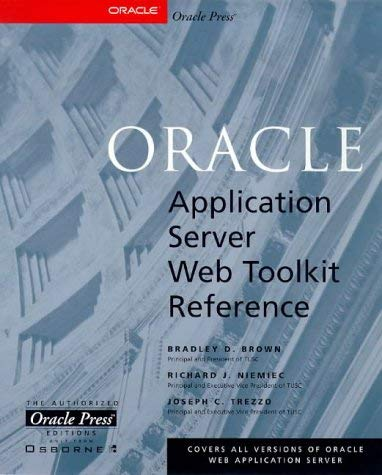 Oracle Web Application Server Web Toolkit Reference 9780078824333