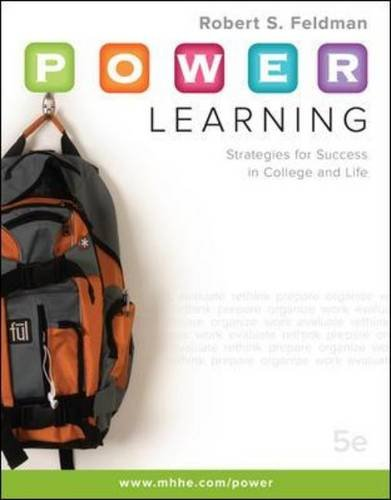 P.O.W.E.R. Learning: Strategies for Success in College and Life 9780073375168