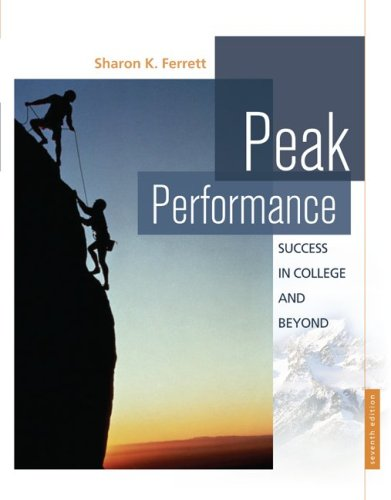 Peak Performance: Success in College and Beyond 9780073375120