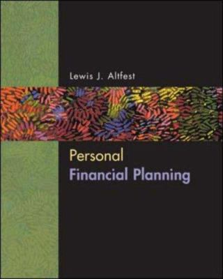 Personal Financial Planning 9780072536409