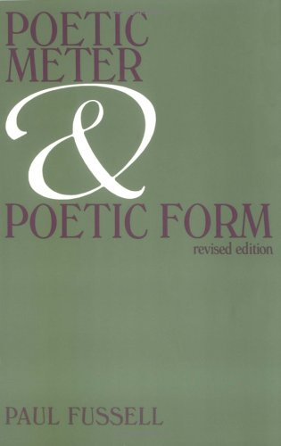 Poetic Meter and Poetic Form 9780075536062