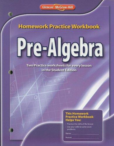 glencoe mcgraw hill pre algebra book