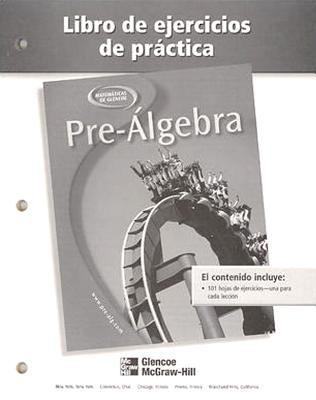 Pre-Algebra Libro de Ejercicios de Practica 9780078277917