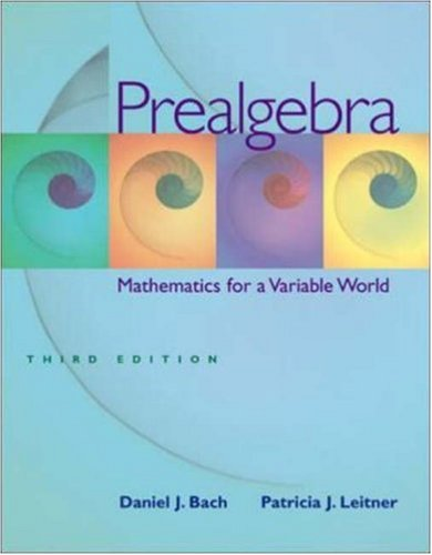 Prealgebra: Mathematics for a Variable World W/ Mathzone Student Access Code 9780073101576