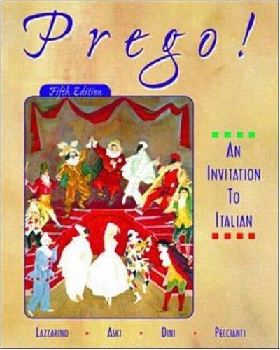 Prego! an Invitation to Italian (Student Edition + Listening Comprehension Audio CD) 9780072342215