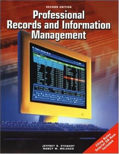 Professional Records and Information Management Student Edition [With CDROM] 9780078227790