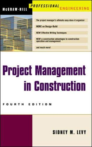 Project Management in Construction 9780071395878
