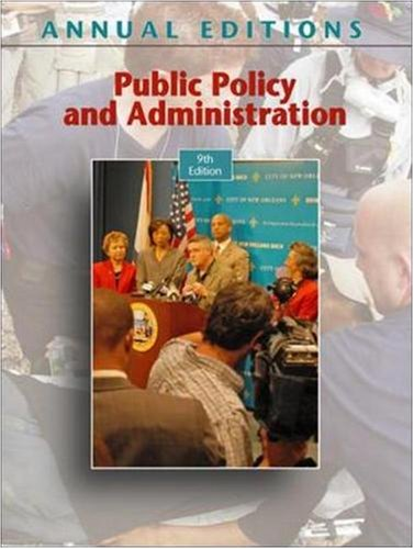 Public Policy and Administration 9780073516264