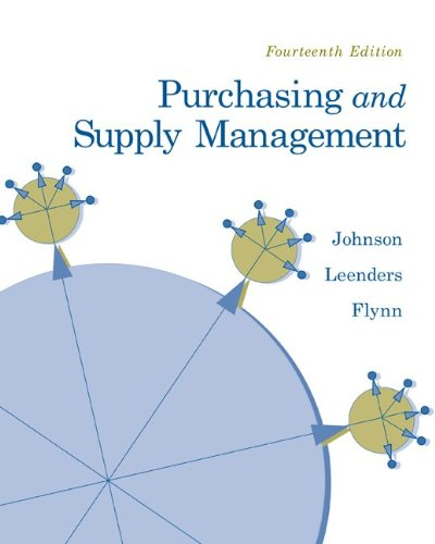Purchasing and Supply Management 9780073377896
