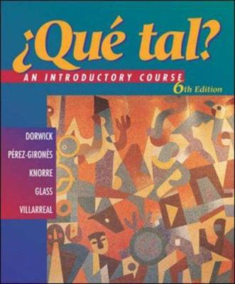 Que Tal?: An Introductory Course [With CDROM] 9780072538465