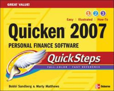 Quicken 2007 Personal Finance Software Quicksteps 9780072263886