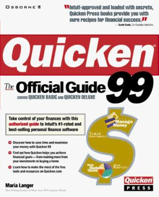 Quicken 99: The Official Guide 9780072118896