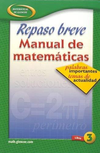 Repaso Breve Manual de Matematicas Libro 3 9780078607554